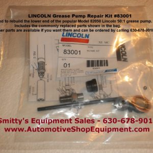Lincoln 83001 Lower End Repair Kit for the 82050 Grease Pump
