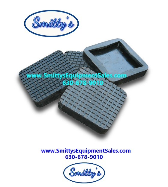 Square Rubber Slip-On Pads
