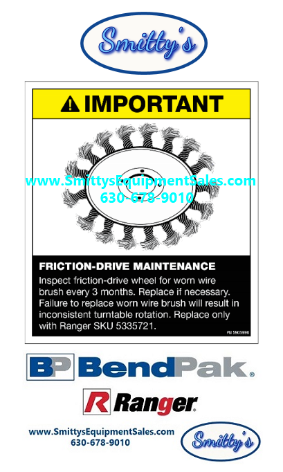 BendPak / Ranger 5335721 Brush Drive Wheel
