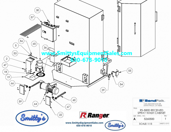 Ranger RS-500D AND RS-750D Replacement Parts