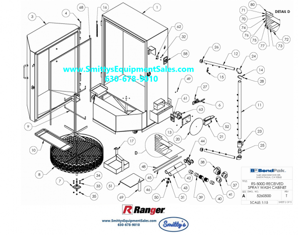 Ranger RS-500D and RS750D Replacement Parts Image A