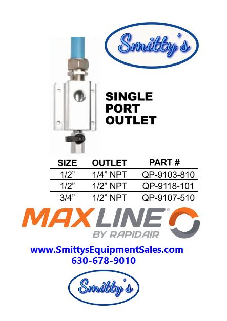 Maxline Single Port Outlet